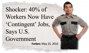 40% are Contingent